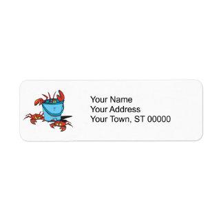 bucket of crabs return address label