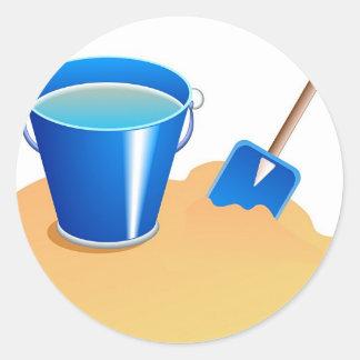 Bucket & Spade Round Sticker