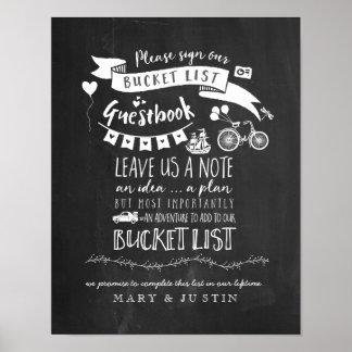 Bucketlist Guestbook Wedding Poster