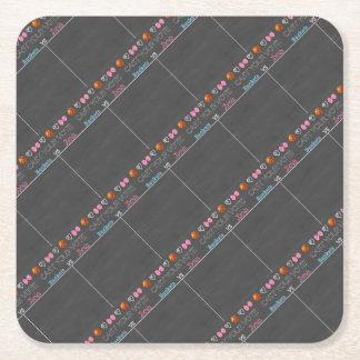 buckets vs bows tally board unpersonalized 11x14.j square paper coaster