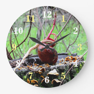 Buckeye Tree Sprout Round Wall Clock