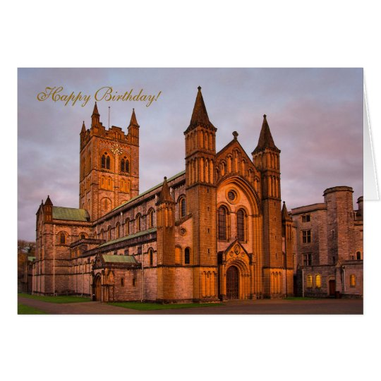 Buckfast Abbey and Golden Sunset Card