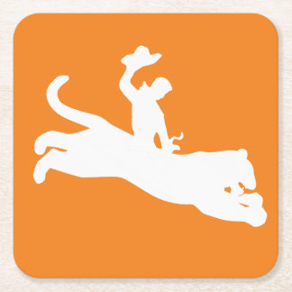 Bucking Bronco Bengal Square Paper Coaster