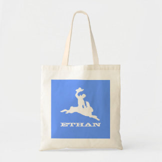 Bucking Bronco Bunny Tote Bag