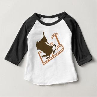 Bucking Bull Film Reel Baby T-Shirt