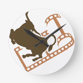 Bucking Bull Film Reel Clock