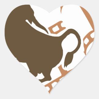 Bucking Bull Film Reel Heart Sticker