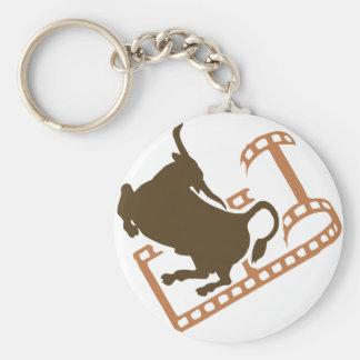 Bucking Bull Film Reel Keychain