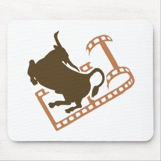 Bucking Bull Film Reel Mouse Pad