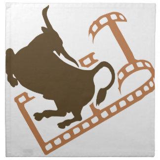 Bucking Bull Film Reel Napkin