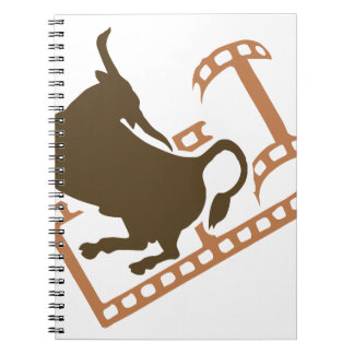 Bucking Bull Film Reel Note Books