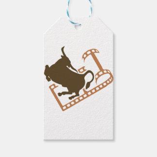 Bucking Bull Film Reel Pack Of Gift Tags