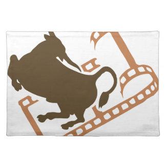 Bucking Bull Film Reel Placemat