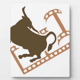 Bucking Bull Film Reel Plaque