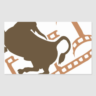 Bucking Bull Film Reel Sticker