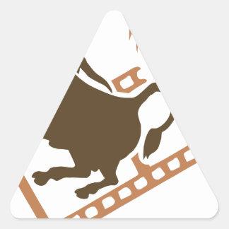 Bucking Bull Film Reel Triangle Sticker