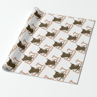 Bucking Bull Film Reel Wrapping Paper