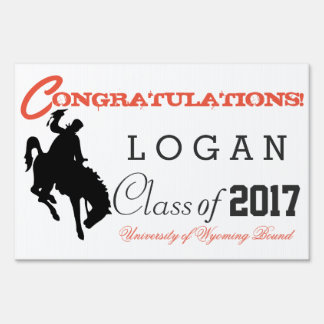 Bucking Grad Graduation sign