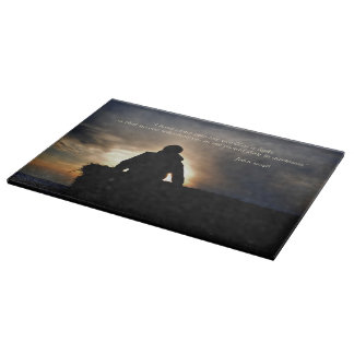 Bucking Hay at Sunrise Inspirational Cutting Board