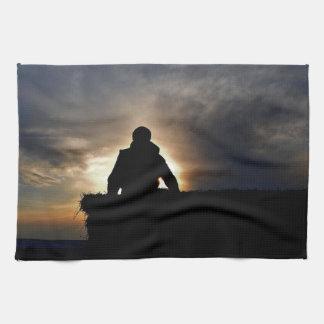 Bucking Hay at Sunrise Kitchen Towel Ranch Life