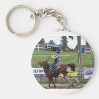 Bucking horse keychain