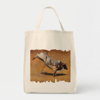 Bucking Rodeo Bull on faux Parchment Designer Gift