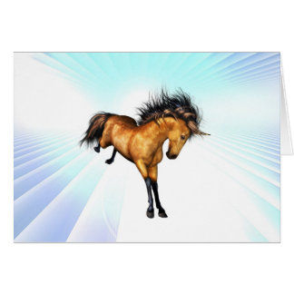 Bucking Unicorn Greeting Card