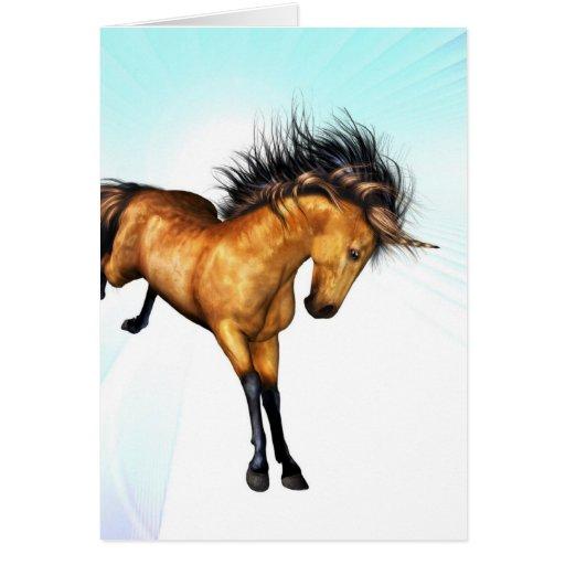 Bucking Unicorn Greeting Card
