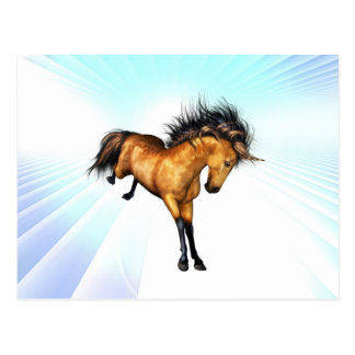 Bucking Unicorn Postcard
