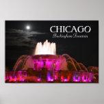 Buckingham Fountain Chicago Pink Poster