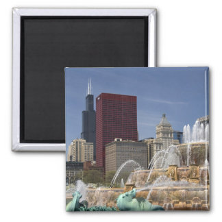 Buckingham Fountain located in Grant Park, Magnet