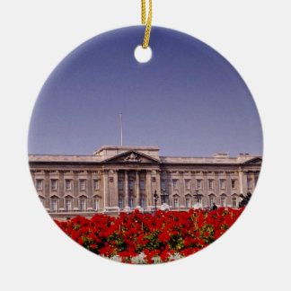 Buckingham Palace, London, England flowers Ceramic Ornament