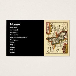 Buckinghamshire County Map, England Business Card