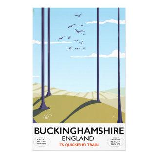Buckinghamshire England railway travel poster Stationery