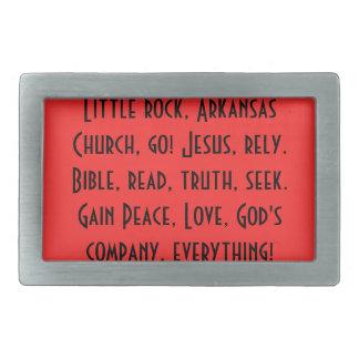 Buckle/Little rock, Ark, be christian! Rectangular Belt Buckles