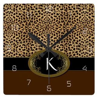 Buckle Up Leopard Clocks