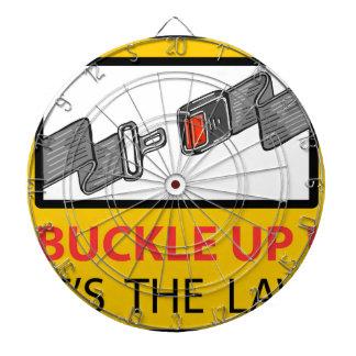 Buckle Up Sign Vector Sketch Dartboard