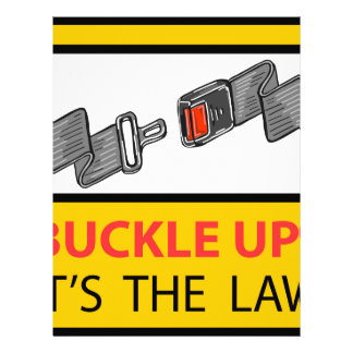 Buckle Up Sign Vector Sketch Letterhead Template