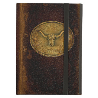 Buckled Leather Steer iPad Air Covers