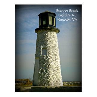 Buckroe Beach Lighthouse Hampton, VA Postcard
