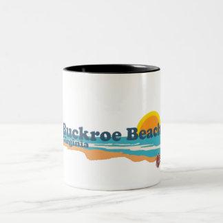Buckroe Beach. Two-Tone Coffee Mug