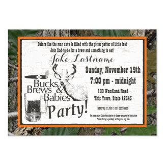 Bucks Beer and Babies Shower Card