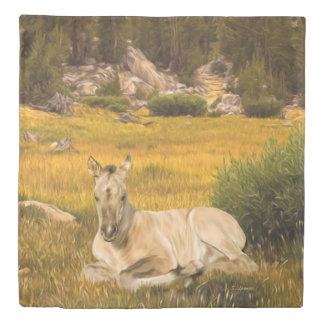 Buckskin Horse Foal Duvet Cover
