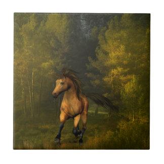 Buckskin Horse Tile