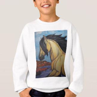 Buckskin Mustang in the canyon Sweatshirt