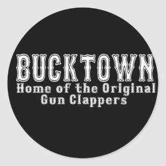 Bucktown Brooklyn Classic Round Sticker