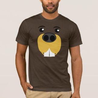 Bucky Beaver Face T-Shirt