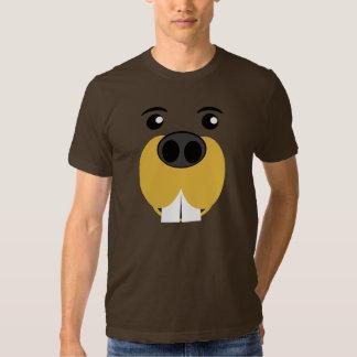 Bucky Beaver Face T Shirts