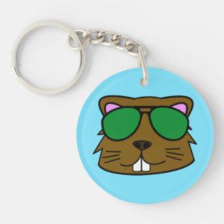 Bucky Beaver Keychain