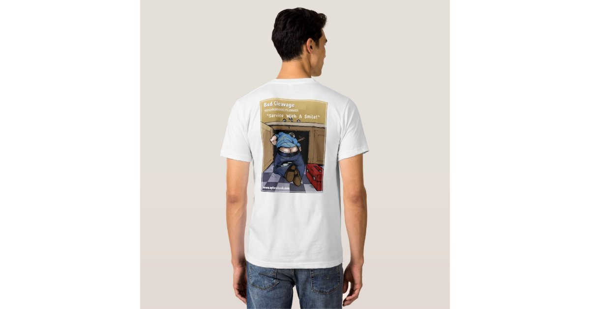 Bud cleavage plumber shirts zazzle for Plumber t shirt cleavage